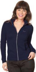 Damen Jacke veredelt mit Swarovski® Kristallen Trigema navy