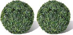 Groene VidaXL Buxus bol kunstmatige bladeren 27cm (2 stuks)