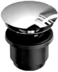Clou InBe afvoerplug niet afsluitbaar rond chroom Met verkort doorvoerstuk IB/06.51010.S