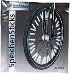 Rode Merkloos / Sans marque Spaakreflectoren set 12x stuks voor zichtbare kinderfiets - veilig op de fiets