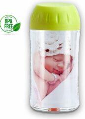 Qualible Doseerbare Melkpoedertoren - Babyvoeding Bewaarbakjes - Te Gebruiken als Melkpoederbus/Babyvoeding Bewaarbox/Poedertoren - Handig voor Thuis & On-the-Go - Groen