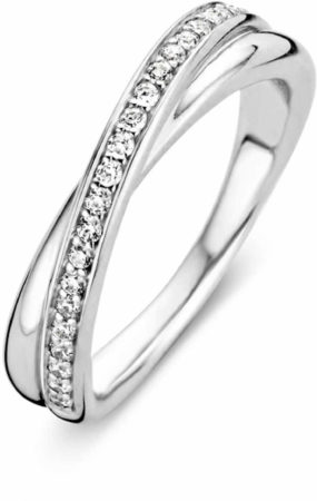 Afbeelding van Zilveren TI SENTO Milano Ring 1953ZI - Maat 54 (17,25 mm) - Gerhodineerd Sterling Zilver
