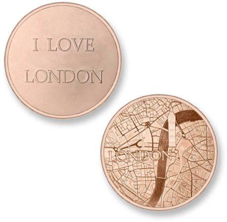 Afbeelding van Roze Mi Moneda Del Mundo - London rose Del Mundo - London rose munt