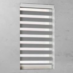 Grijze Pure Living Duo Rolgordijn lichtdoorlatend Grey - 160x175 cm