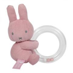 Witte Tiamo Collection Ringrammelaar nijntje pink baby rib