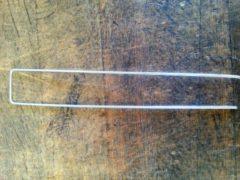 Grijze Winter totalflooring Gronddoekpennen gegalvaniseerd 20 x 3 x 20 cm diam 3 mm set 10 stuks
