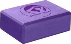 Trendy Sport Yoga blok - Yogablok - Yoga Block - 23 cm lang - 15 cm breed - 7.5 cm dik - Paars