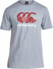 Canterbury Shirt Logo Heren Katoen Grijs/rood/wit Maat Xs