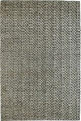 Decor24 Handgeweven laagpolig vloerkleed Forum - 100% wol - taupe - 80x150 cm