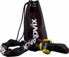 Zwarte Kovix KCL10-150 Fiets Motor Kettingslot met Alarm 120db 10mm x 150cm