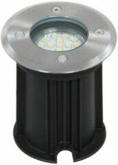 Ranex LED grond spot geborsteld aluminium