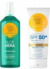 Bondi Sands - Parfumvrij SPF 50+ 150 ml en After Sun Aloë Vera 150 ml
