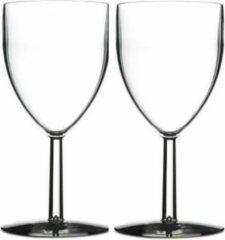 Transparante Rosti Mepal 12x stuks Mepal wijnglazen van San kunststof 300 ml - Onbreekbare / herbruikbare camping/picknick glazen