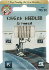 Zilveren Organ needles 70/10 5 stuks