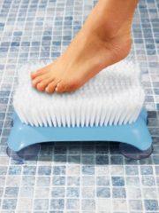 Klingel Rug- en voetenborstel blauw/wit