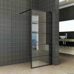 Inloopdouche Horizon Inclusief Mat-Zwart Raster en NANO Glas (ALLE MATEN)
