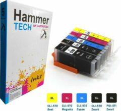 Cyane HammerTECH Cartridge - PGI-570XL / CLI-571XL - set van 5 – kleur en zwart