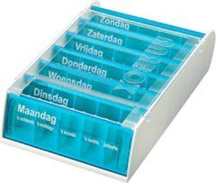 Azuurblauwe Spruyt-hillen Anabox® 7 dagen medicijndoos - Azuur - medicijndoos.nl