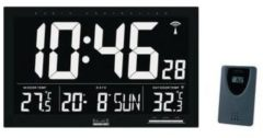 Zwarte Balance Radio-Controlled Wall Clock LCD Black