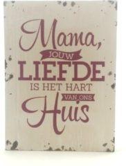 Witte Miko Houten tekstbord Lieve mama