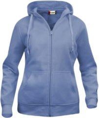 Clique Basic hoody full zip ds Lichtblauw maat XL