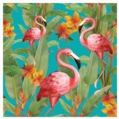 Ambiente Servetten Flamingo's 3-laags 20x Stuks - Tafel Dieren Feestartikelen/versiering
