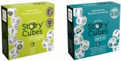 Merkloos / Sans marque Spellenbundel - Dobbelspel - 2 Stuks - Rory's Story Cubes Voyages & Astro