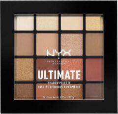 NYX Professional Makeup NYX PMU Professional Makeup Ultimate Shadow Palette - Warm Neutrals USP03 - Oogschaduw Oogschaduw Palet - 13,3 gr
