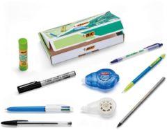 Blauwe BiC® BIC Eco-Friendly Schrijfwarenset Home and Office Set van 9 stuks
