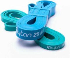Kaytan Fitness weerstandsbanden set - Power band 15 - 25 kg - Weerstandsbanden - Resistance band set - Elastische weerstandsband - Fitness elastiek set - Blauw - Groen - Thuis sporten
