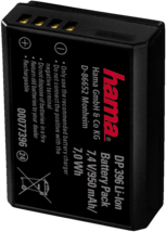 Zwarte Hama Accu voor digitale camera 7,4v/950mah Canon Lp-E10