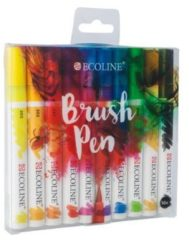 Royal Talens Ecoline Brush Pen set 10 kleuren brushpen penseelpen penseelstift