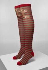 Rode Urban classics Kerst - originele sexy en foute kniekousen - Christmas - Feestdagen - Nieuw
