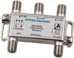 Hirschmann CATV 4-weg splitter met F vrouwelijke poorten