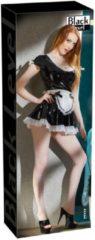 Black Level – Sexy Huishoudster Outfit van Vinyl Lak voor Feesten of Slaapkamer Spellen – Maat XL – Zwart