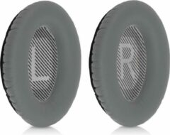 Kwmobile 2x oorkussens voor Bose Quietcomfort 35 / QC35 wireless II koptelefoons - imitatieleer - voor over-ear-koptelefoon - zilver