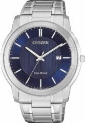 Citizen AW1211-80L Horloge Heren Ecodrive Staal Blauw