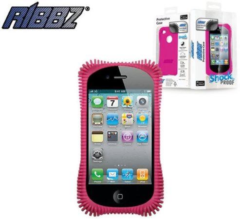 Afbeelding van Ribbz Telefoonhoesje Iphone 4 / 4s Ultra schok bestendig - Roze