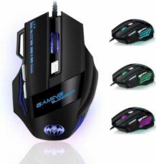 Zwarte K&L Gaming Muis - Ergonomisch Pro - voor Laptop, PC en Mac - RGB