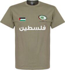 Kaki Retake Palestina Football T-Shirt - Khaki - M