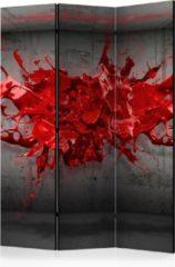 Rode Kamerscherm - Scheidingswand - Vouwscherm - Red Ink Blot [Room Dividers] 135x172 - Artgeist Vouwscherm