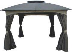 Robinson - aluminium/metalen frame - taupe dak en 4 zijwanden - Sens-Line