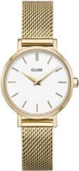 CLUSE CW0101211001 Horloge LA Boheme Petit Mesh goudkleurig-wit 28 mm