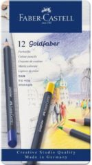 Gouden Kleurpotlood Faber-Castell Goldfaber etui à 12 stuks