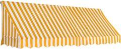VidaXL Luifel 300x120 cm oranje en wit
