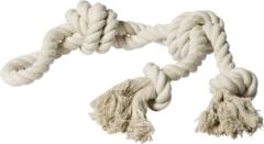 Adori Speeltouw 4 Knoops 600 Gram Wit - Hondenspeelgoed - 60 cm