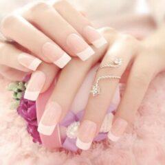 GUAPÀ - Plaknagels French Manicure + Plakstrips - High Quality - 24 stuks