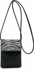 Zwarte Ines Delaure Dames Clutch zebra