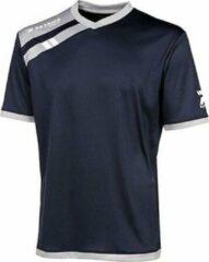 Marineblauwe Patrick Force Shirt Korte Mouw Heren - Marine / Grijs | Maat: M