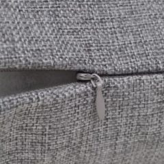 Antraciet-grijze VidaXL Kussenhoezen linnen look 40 x 40 cm antraciet 4 stuks
